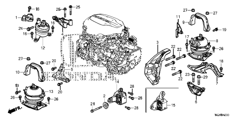 Honda online store : 2016 pilot engine mounts parts