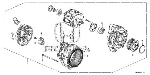 Honda online store : 2018 pilot alternator (denso) parts