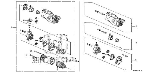 Honda online store : 2016 pilot starter motor (mitsuba) parts