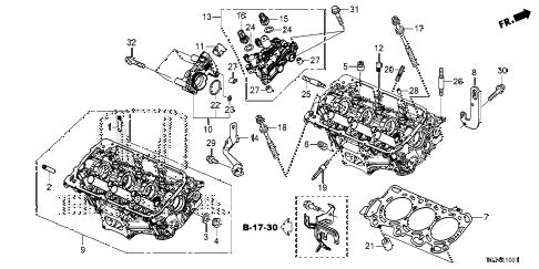 Honda online store : 2016 pilot rear cylinder head parts
