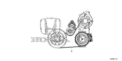 Honda online store : 2016 pilot alternator belt parts