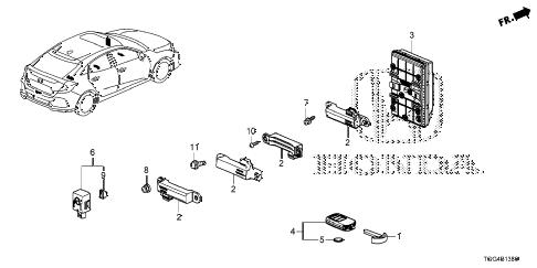 Honda online store : 2017 civic smart unit parts