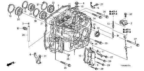 Honda online store : 2011 fit at transmission case parts