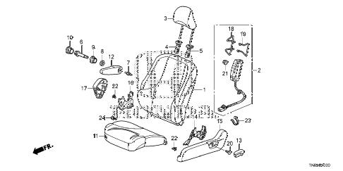 Honda online store : 2013 fit front seat (l.) (ka/kc) parts