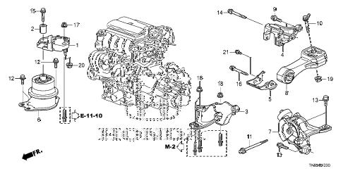 Honda online store : 2013 fit engine mount (mt) (ka/kc) parts