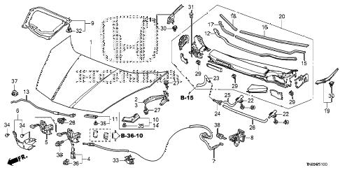 Honda online store : 2013 fit engine hood (ka/kc) parts