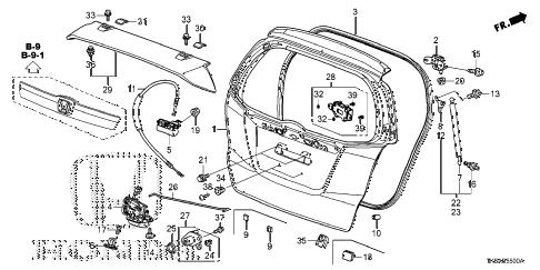 Honda online store : 2013 fit tailgate parts