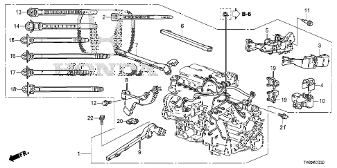 Honda online store : 2013 fit engine wire harness parts