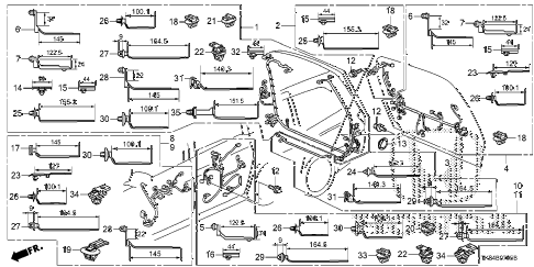 Honda online store : 2012 odyssey wire harness (6) parts
