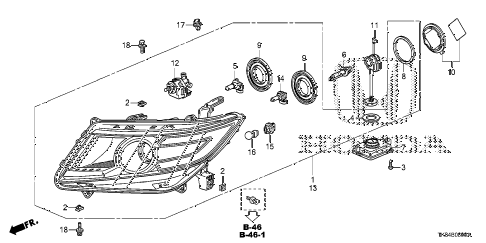 Honda online store : 2014 odyssey headlight parts