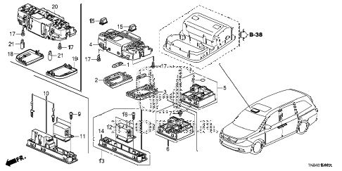 Honda online store : 2011 odyssey interior light parts