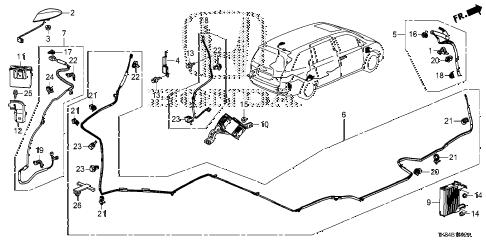 Honda online store : 2015 odyssey antenna (3) parts