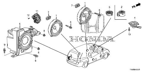 Honda online store : 2016 odyssey speaker parts
