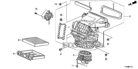 Honda online store : 2012 odyssey heater blower parts