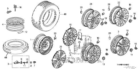 Honda online store : 2014 odyssey wheel disk (ka) parts