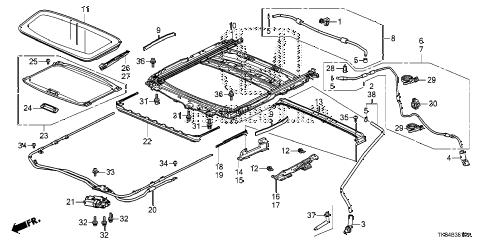 Honda online store : 2012 odyssey sliding roof parts