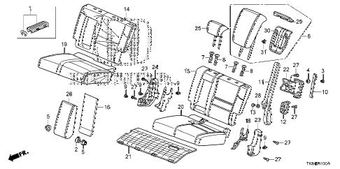 Honda online store : 2014 odyssey rear seat (l.) (1) parts