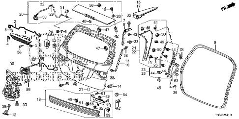 2014 Honda Odyssey Liftgate Parts Diagram. Honda. Auto