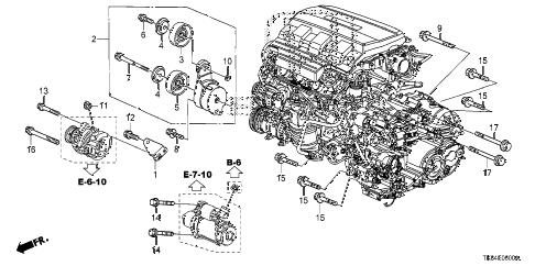Honda online store : 2012 odyssey alternator bracket