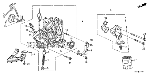 Honda online store : 2012 odyssey oil pump parts