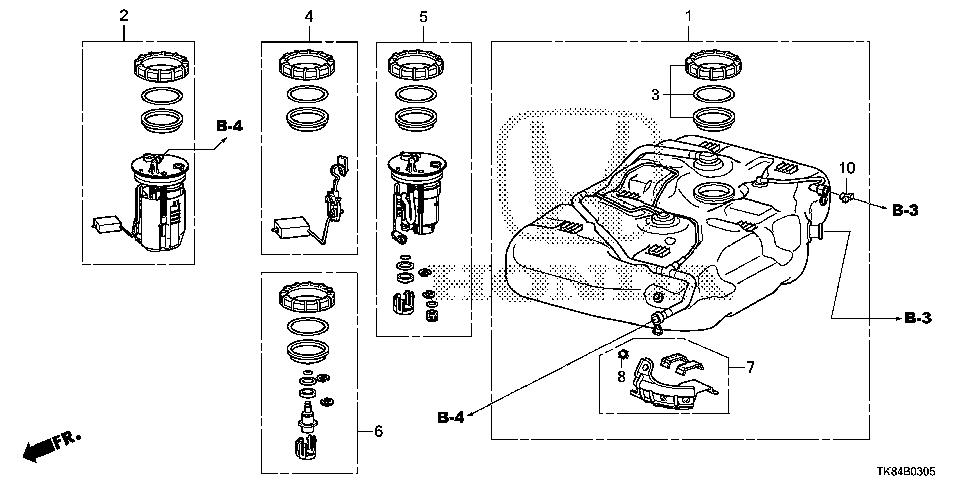 1995 Honda odyssey fuel tank removal