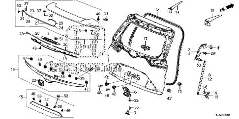 Honda online store : 2017 crv tailgate parts
