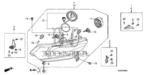 Honda online store : 2014 insight headlight parts
