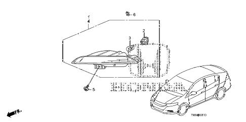 Honda online store : 2010 insight turn light (1) parts