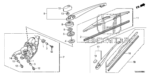 Honda online store : 2010 insight rear wiper parts