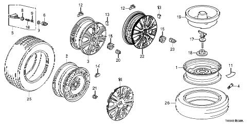 Honda online store : 2010 insight wheel disk (ka/kl) parts