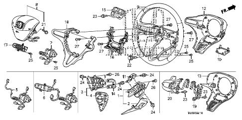 Honda online store : 2010 insight steering wheel (srs) parts