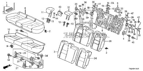 Honda online store : 2010 insight rear seat parts
