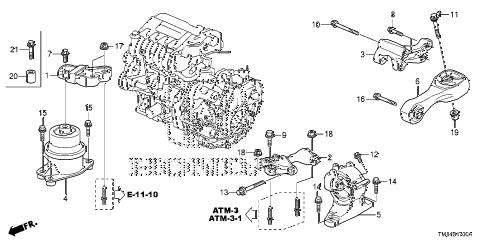 Honda online store : 2010 insight engine mounts parts