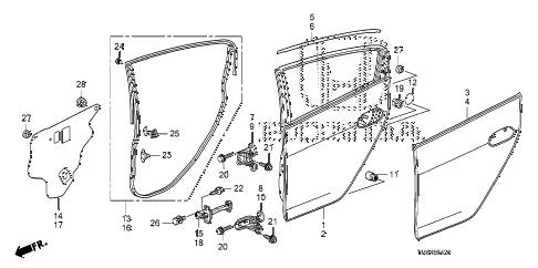 Honda online store : 2010 insight rear door panels parts