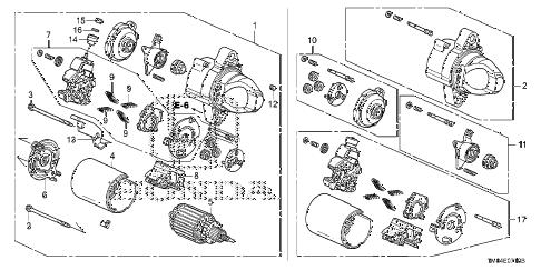 Honda online store : 2011 insight starter motor (mitsuba