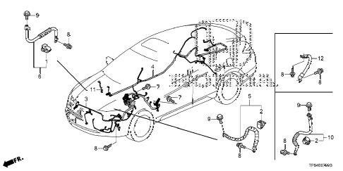 Honda online store : 2012 crosstour wire harness (1) parts