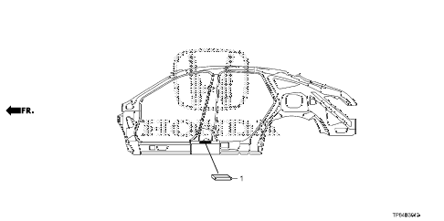 Honda online store : 2013 crosstour grommet (side) parts