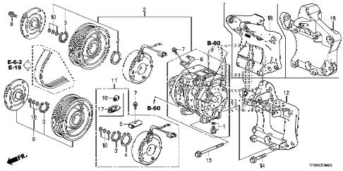 Honda online store : 2013 crosstour a/c compressor (v6) parts