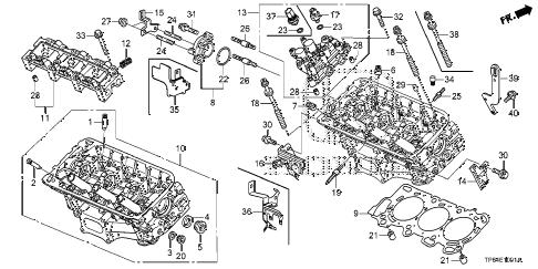 Honda online store : 2012 crosstour rear cylinder head (v6