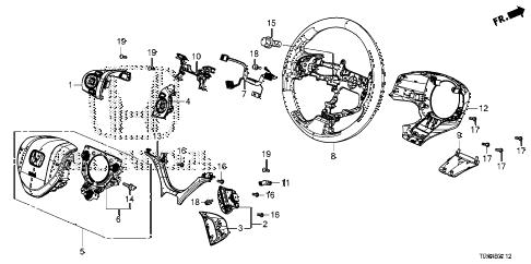 Honda online store : 2012 civic steering wheel (srs) (3) parts