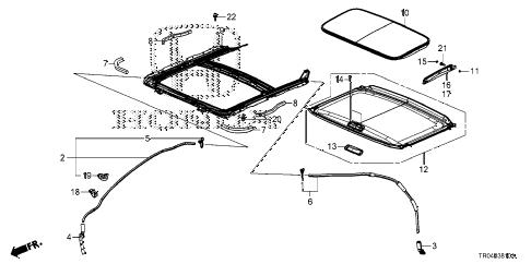 Honda online store : 2012 civic sliding roof parts