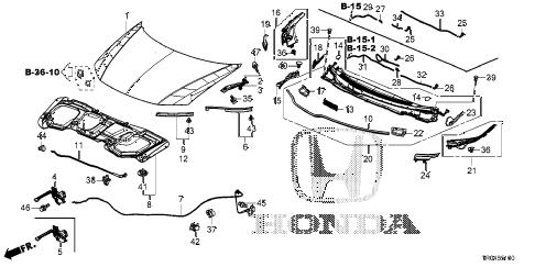 Honda online store : 2012 civic engine hood parts