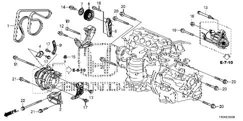 Honda online store : 2012 civic alternator bracket