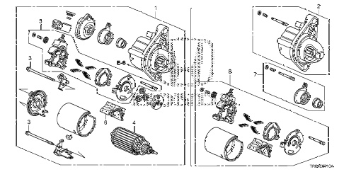 Honda online store : 2012 civic starter motor (mitsuba) (1