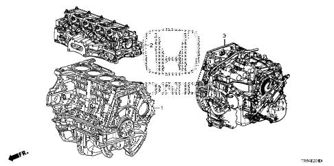 Honda online store : 2012 civic engine assy