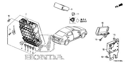 Honda online store : 2013 civic control unit (cabin) (1) parts