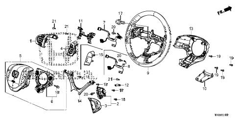 Honda online store : 2013 civic steering wheel (srs) (2) parts