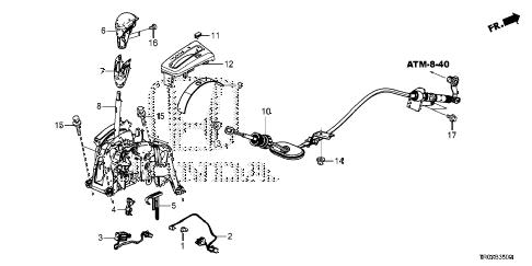 Honda online store : 2013 civic select lever parts