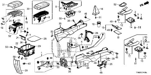 Honda online store : 2013 civic console parts