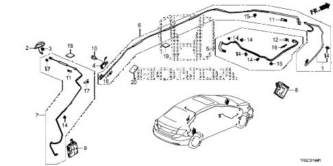 Honda online store : 2014 civic antenna (2) parts